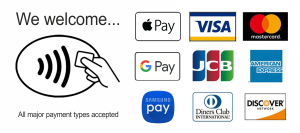 All major payment types accepted